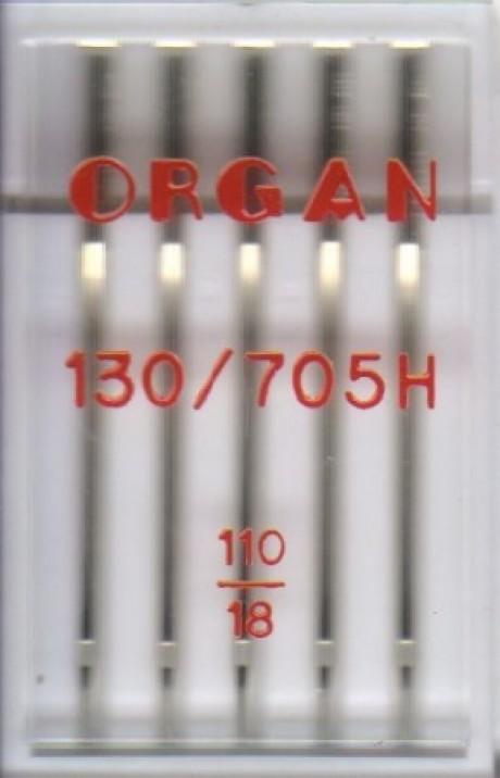 Standartinių mašininių adatų komplektas, 130/705H STANDARD 110