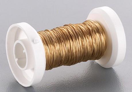 Auksinės spalvos vielutė 0,25 mm, 6465765