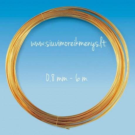 Vielutė, auksiniu padengimu, 0.8mm; 6460089