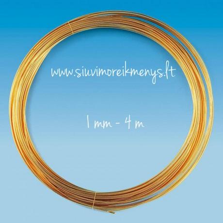 Vielutė, auksiniu padengimu, 1.0mm; 6460100