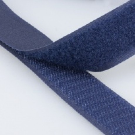 Prisiuvama kontaktinė juosta Lecron 25 mm. tamsiai mėlyna HOOK