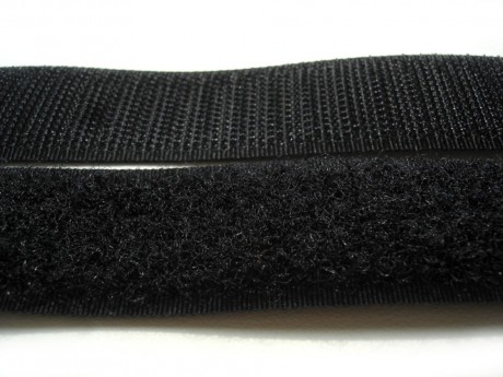 Prisiuvama kontaktinė juosta Lecron 50 mm. juoda HOOK