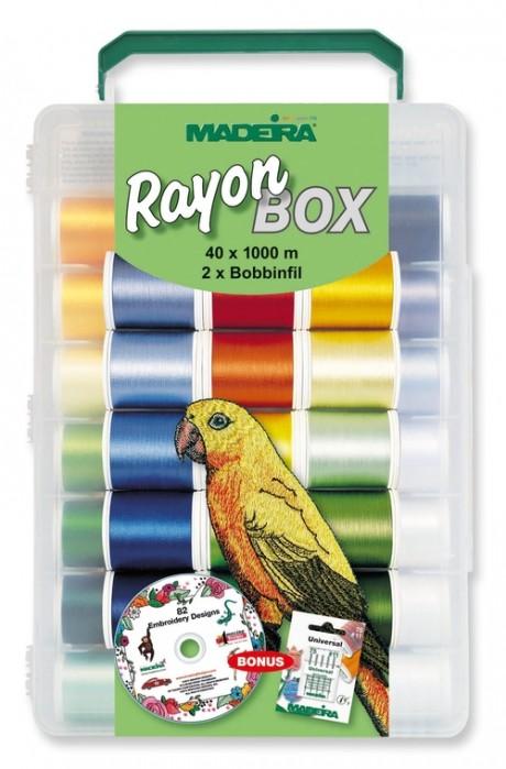 RAYON siuvinėjimo siūlų rinkinys dėžutėje 8042