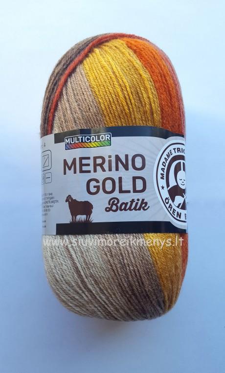 Mezgimo siūlai Merino Gold Batik sp. 841