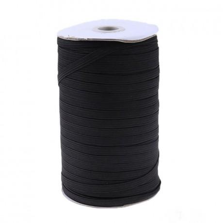 Austa elastinė juosta (guma) 10 mm, sp. juoda