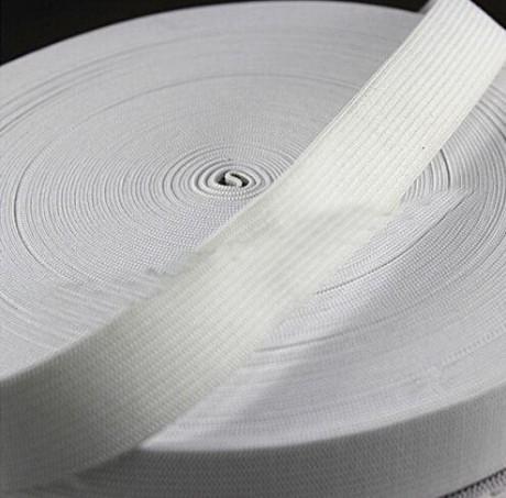 Austa elastinė juosta (guma) 50 mm, sp. balta