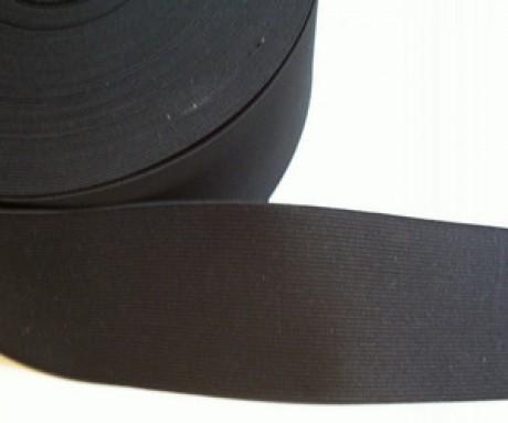 Galanterinė austa elastinė juosta (guma) 100 mm, sp. juoda