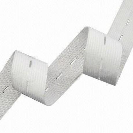 Austa elastinė juosta (guma) su skylutėm 18 mm, sp. balta