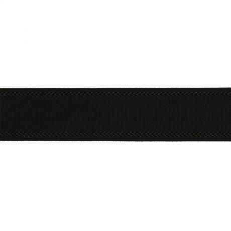 Austa elastinė juosta (guma) petnešom 18 mm, sp. juoda