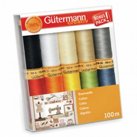 Gütermann medvilninių siūlų rinkinys 734521, col. 1