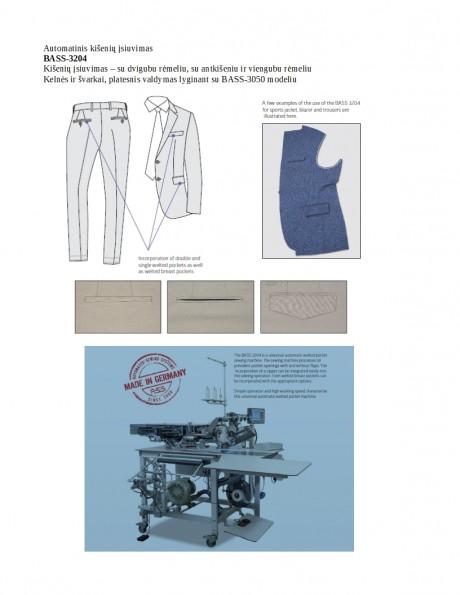 Automatinis kišenių įsiuvimas BASS-3204