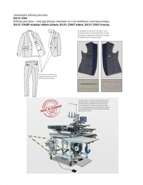 Automatinis kišenių įsiuvimas BASS-3504