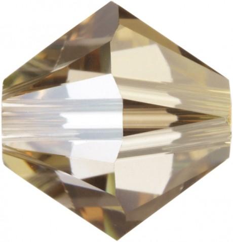 Karoliukai 5328/4 Crystal Golden Shadow