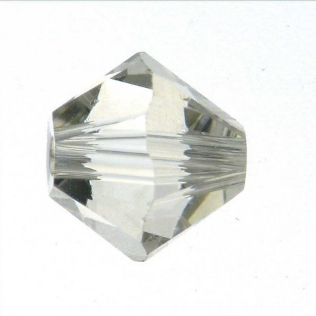 Karoliukai 5328/4 Crystal Silver Shade