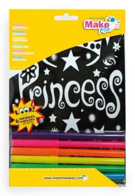 """Spalvinimo atvirukas - paveikslėlis """"Princesė"""""""