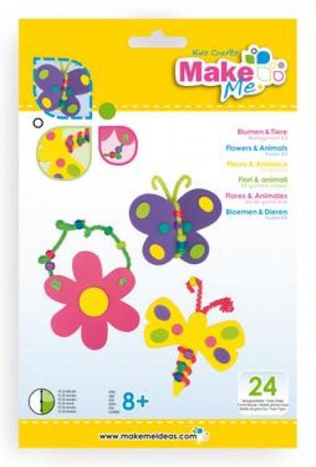 """Putplasčio žaislų rinkinys """"Gėlės ir gyvūnai"""""""