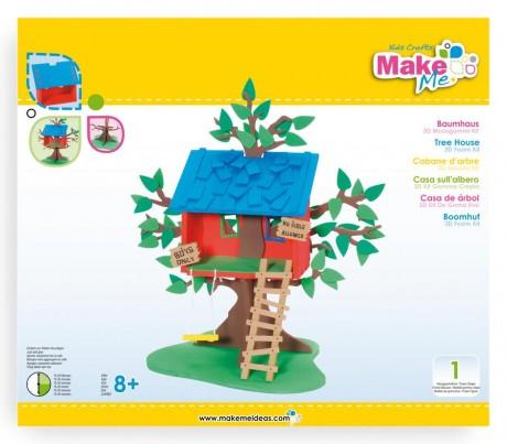"""Putplasčio 3D žaislo rinkinys  """"Namas ant medžio"""""""