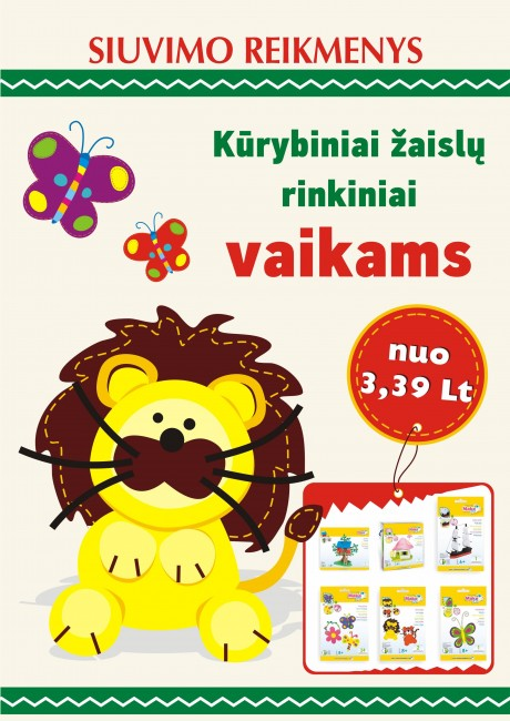 Kūrybiniai žaislų rinkiniai vaikams nuo 0,85€