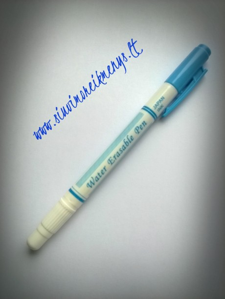 Mėlynas išplaunamas markeris su trinikliu
