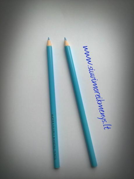 Išplaunamas žymėjimo pieštukas, mėlynos sp.