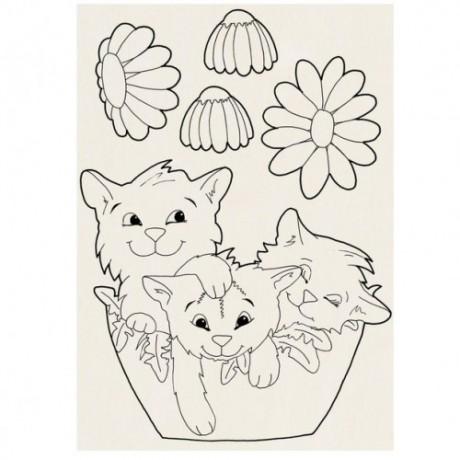 """Šablonas pjovimui """"Katinėliai"""""""