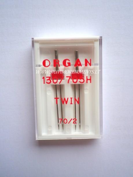 Dvigubos adatos TWIN 70, 2 mm tarpelis