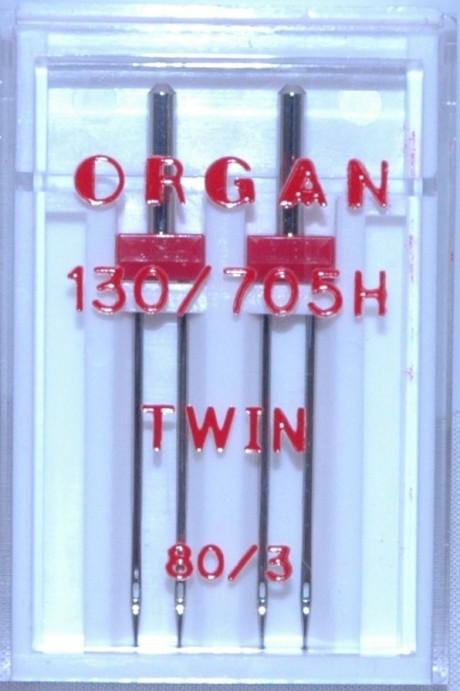 Dvigubos adatos TWIN 80, 3 mm tarpelis