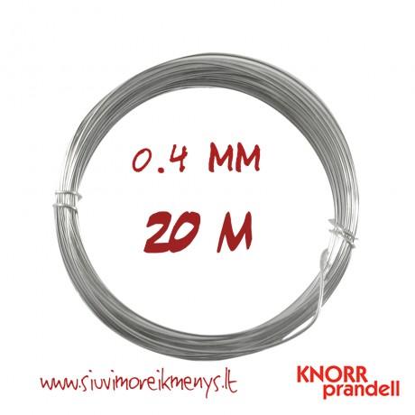 Varinė viela su sidabro padengimu, 0,4 mm; 6461042