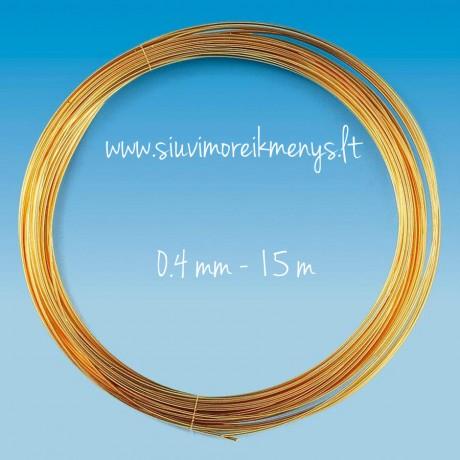 Vielutė, auksiniu padengimu, 0.4mm; 6460046