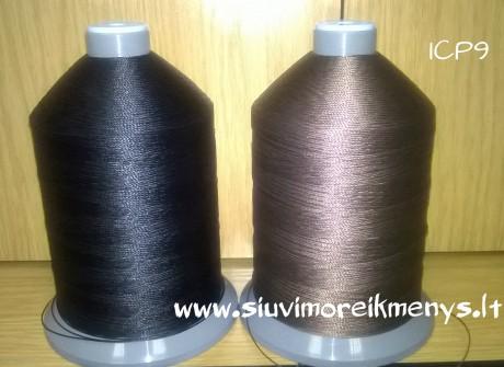 Siūlai ICP9, rudos spalvos - odiniams gaminiams susiūti