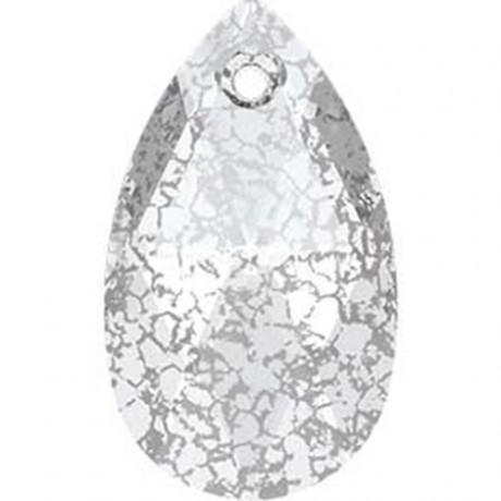 Pakabukas 6106/22 Crystal Silver Patina