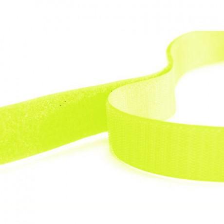 Prisiuvama kontaktinė juosta Lecron 20 mm. geltona fluorescent LOOP