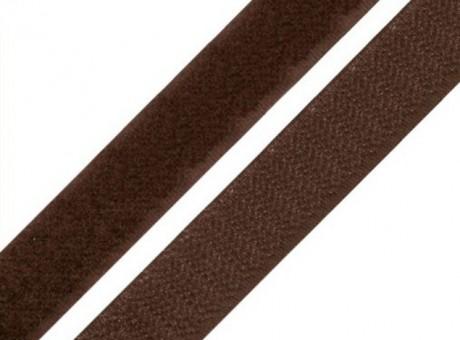 Kontaktinė juosta su klijais Lecron 30 mm. tamsiai ruda HOOK
