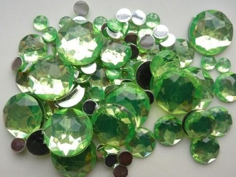 Dekoratyviniai priklijuojami plastikiniai karoliukai 2282145