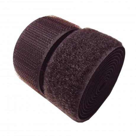 Prisiuvama kontaktinė juosta Lecron 50 mm. tamsiai ruda HOOK