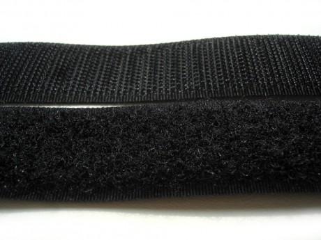 Kontaktinė juosta su klijais Velcro 20 mm. juoda HOOK