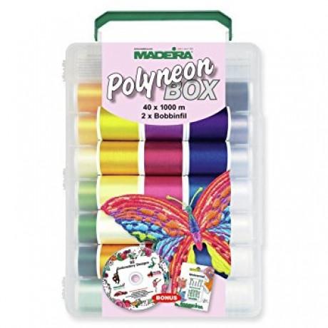 POLYNEON siuvinėjimo siūlų rinkinys dėžutėje 8086