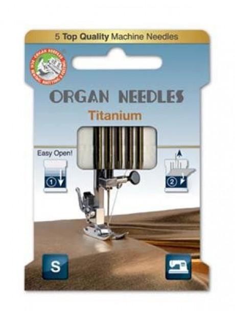 Mašininių adatų komplektas tankiems audiniams Titanium eco, Nr. 90