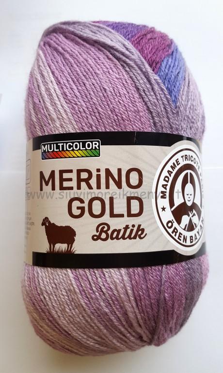 Mezgimo siūlai Merino Gold Batik sp. 840