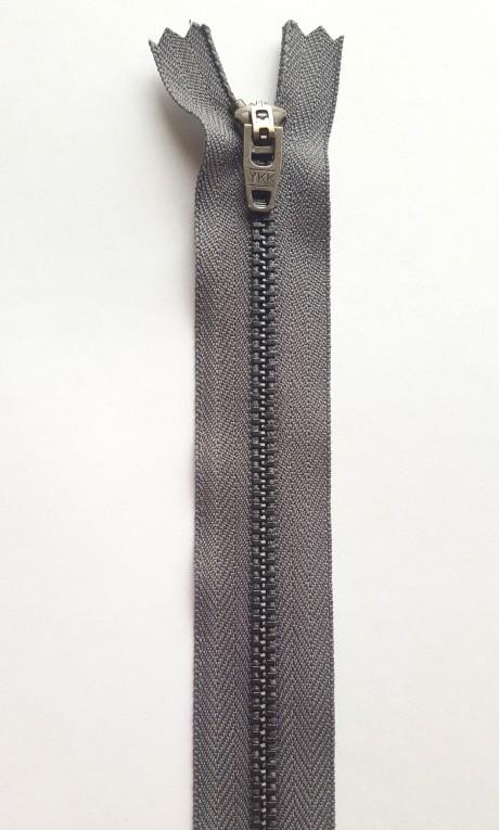 YKK užtrauktukas į kelnes/džinsus, 17 cm (sp. pilka)