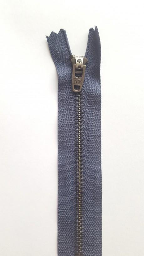 YKK užtrauktukas į kelnes/džinsus, 17 cm (sp. mėlyna)