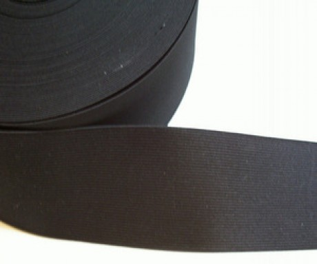 Galanterinė austa elastinė juosta (guma) 70 mm, sp. juoda