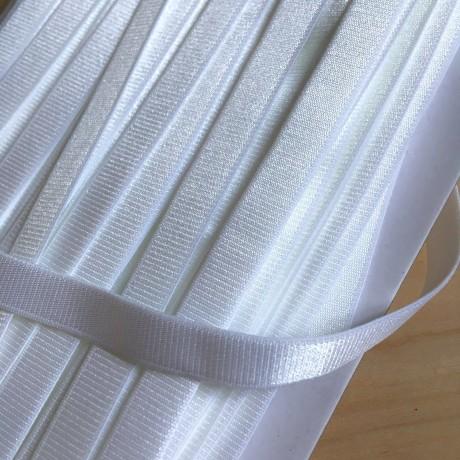 Austa elastinė juosta (guma) petnešom 10 mm, sp. balta