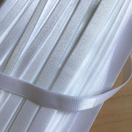 Austa elastinė juosta (guma) petnešom 18 mm, sp. balta