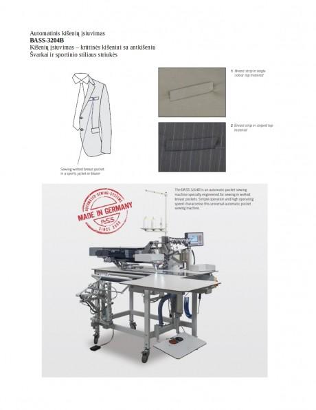 Automatinis kišenių įsiuvimas BASS-3204B