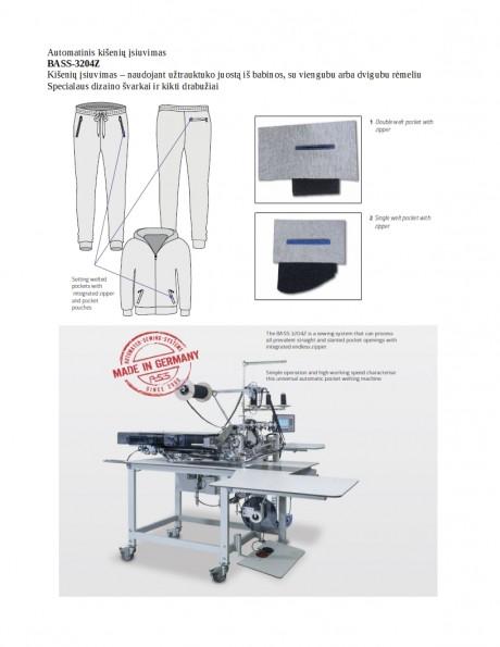 Automatinis kišenių įsiuvimas BASS-3204Z