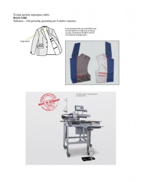 Švarkų apykliu sujungimo siūlės BASS-5160