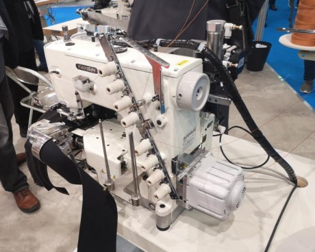 Automatinė kelnių juosmens siuvimo mašina – dvigubas našumas Kansai Special FBX1104PA-3WAC