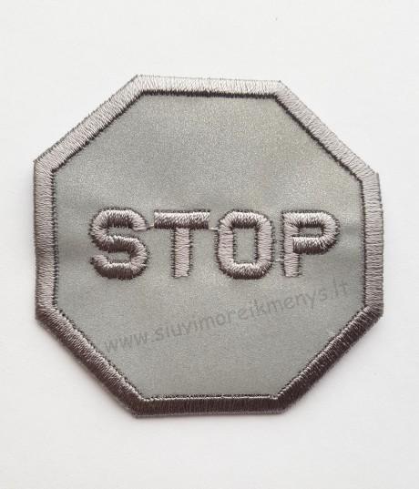 """Termoklijuojama aplikacija atšvaitinė """"Stop"""""""