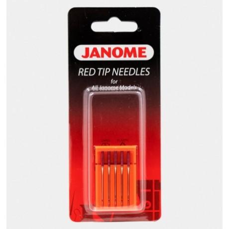 """Janome mašininių adatų komplektas """"Red tip needles"""" 990314109"""